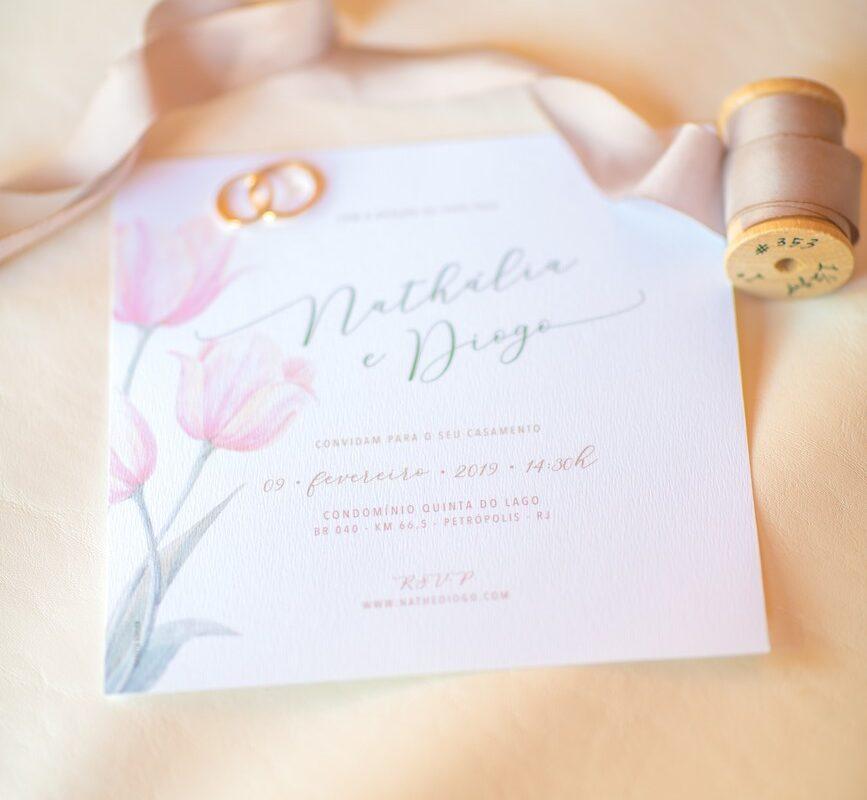 Casamento Nathalia e Diogo - Convite - Marina Fava Fotografia