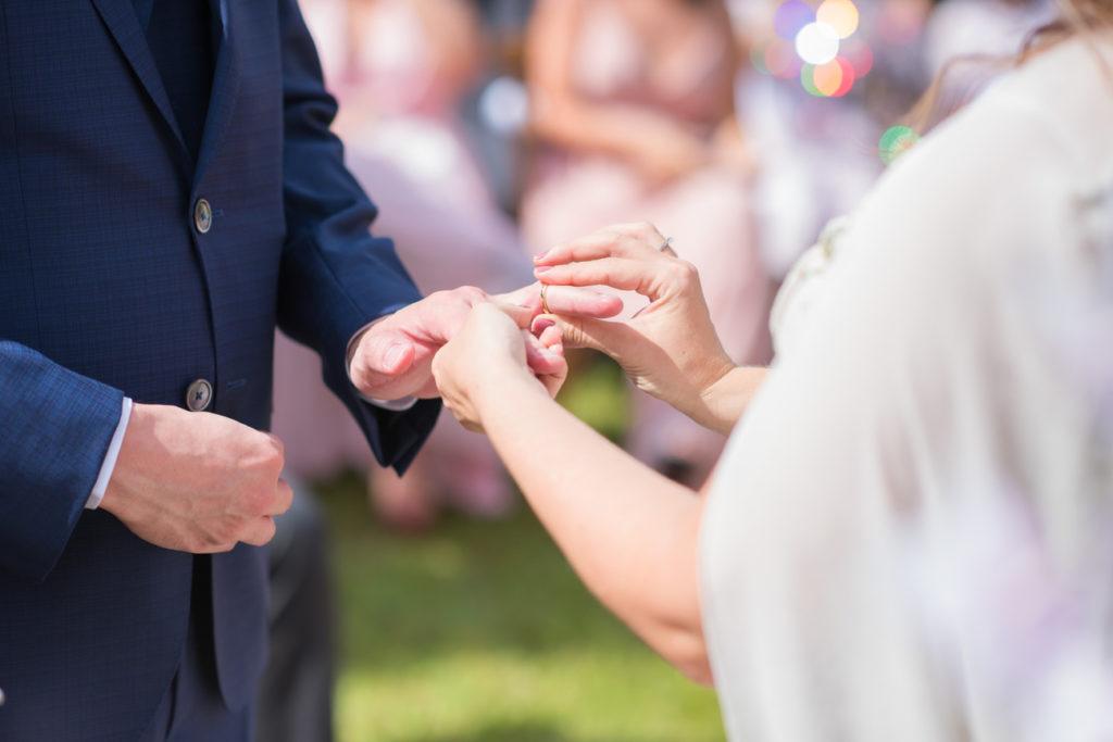 Casamento Nathalia e Diogo - Troca de alianças - Marina Fava Fotografia