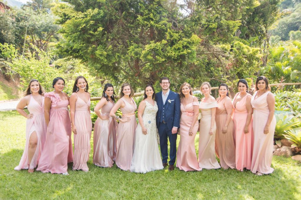 Casamento Nathalia e Diogo - Noivos e madrinhas - Marina Fava Fotografia