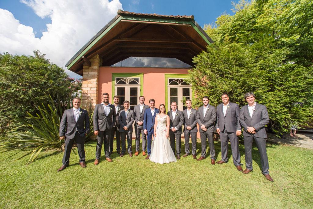 Casamento Nathalia e Diogo - Noivos e padrinhos - Marina Fava Fotografia